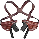 Craft Holsters FN FNS 40 Compact Compatible Holster - Double Shoulder Holster System (42/42-MAH)