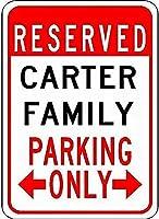 金属サインカーター家族駐車場ノベルティスズストリートサイン