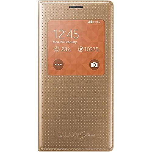 Samsung Punching Pattern S-View Hülle für Galaxy S5 Mini copper-gold