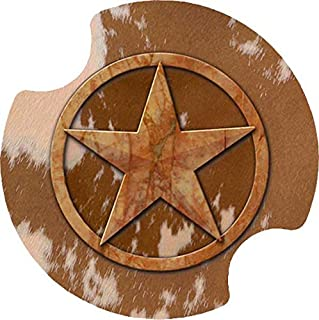 Thirstystone Texas Lone Star Car Cup Holder Coaster, 2-Pack