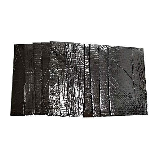 12 UNIDS 5mm Cortafuego de Coche Sonido Deadener Heat Shield Aislamiento de Audio Aislamiento de Ruido Material de Amortiguación Mat Pad