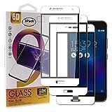 Guran [3 Pezzi Pellicola Vetro Temperato per ASUS Zenfone3 Max ZC520TL (5.2pollice) Smartphone Copertura Completa 9H Durezza Anti-Impronte HD Pellicola Protettiva - Bianco