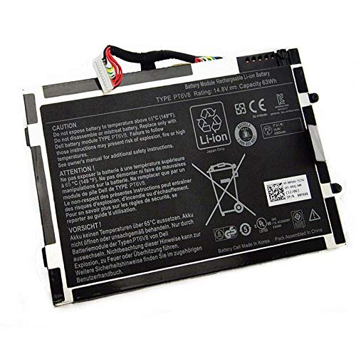 szhyon 14.8V 63Wh 4200mAh Batería Original para Laptop 8P6X6 P06T PT6V8 T7YJR...