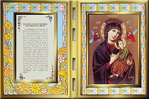 CBC Nuestra Señora del Perpetuo Ayuda Oración y Nuestra Señora María Foto en una Placa de Vidrios