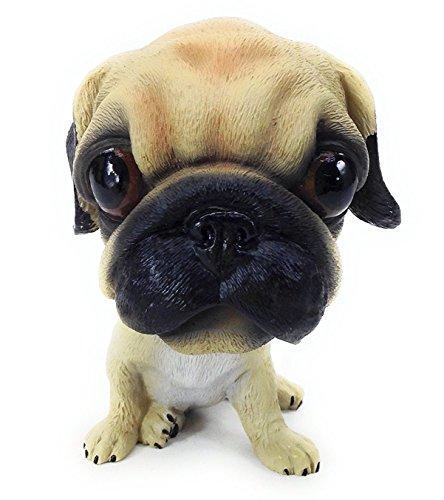 OZUKO Bobbing Head Pug Dog Bobble Head Auto Car Dashboard Decors Toy Bulldog Ornaments (Pug)