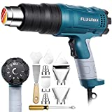 Heat Gun Kit 2000W with Variable Temperature 5 Nozzles, Adjustable Hot Air Gun 122°F-1112°F Fast Heating for DIY Shrink PVC Tubing/Wrapping/Crafts, Stripping Paint(2000W Rear Cover Temp Adjust)