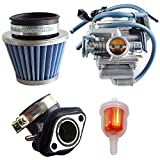 OxoxO - Kit de Filtro de Combustible para carburador GY6 de 150 CC, 26 mm, con Filtro de Aire, para Roketa SunL Baja Kazuma Taotao Eagle Chinese Go Kart Carb