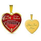 カスタマイズ可 妻への最高の誕生日プレゼント - to My Wife ハートネックレスペンダント - 愛する人へのロマンチックなギフト 誕生日 結婚式 記念日 クリスマス