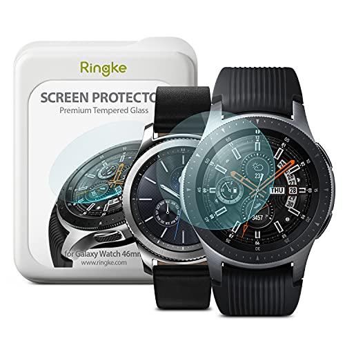 Ringke INVISIBLE DEFENDER Pellicola Protettiva [Vetro Temperato] [4-Pack] Compatibile con Galaxy Watch 46mm Gear S3 Shield Ultimate, Qualità ad Alta Definizione, Tecnologia di Durezza 9H