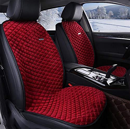 Xljh autostoelverwarming, zitkussen, verstelbare temperatuur, verwarmde zitkussen, 12 V zitkussens, complete set voor de meeste voertuigen met standaard stoelen.