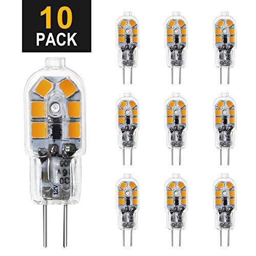 G4 LED Lampen, Chesbung 10er Pack G4 LED Warmweiss 3W, 12V AC/DC LED Leuchtmittel, 300LM Kein Flackern Nicht Dimmbar 360° Lichtwinkel G4 Licht, Stiftsockellampe Glühbirnen
