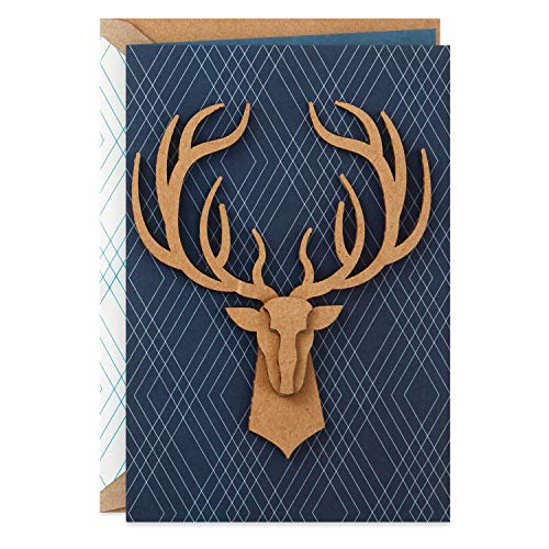 Hallmark Signature Father's Day Card (Deer Antlers, Better with Every Year)