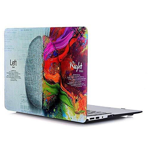 AJYX Hülle Kompatibel mit MacBook Air 13 Zoll 2010-2017 Release A1369 A1466, Plastik Hartschale Schutzhülle Snap Case Cover Kompatibel mit ältere Laptop Mac Air 13,3 Zoll - Linkes und rechtes Gehirn
