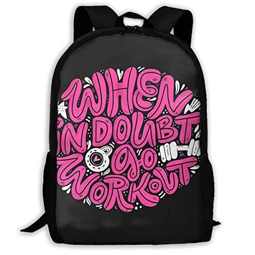 Hangdachang School Rucksack Go Workout Bookbag Casual Travel Bag for Teenagers Boys Girls