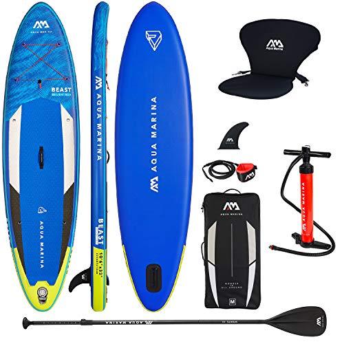 Aqua Marina Stand up Paddle gonflable Aquamarina Beast 2021 Pack complet 320 x 81 x 15 cm avec sicge kayak