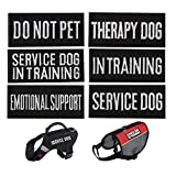 CheeseandU Dog Vest Harness Patches, 6Pack Dog Removable Patches Backing-Service Dog, Service Dog in Training, Do Not Pet, Emotional Support, Therapy Dog, in Training Embroidered Morale Badge Patches