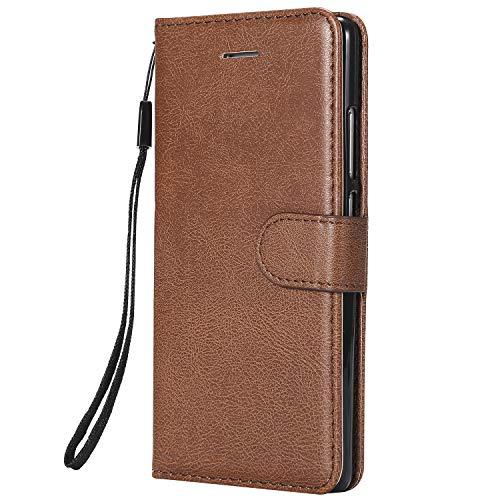 Jeewi Hülle für Huawei P9 Hülle Handyhülle [Standfunktion] [Kartenfach] [Magnetverschluss] Tasche Etui Schutzhülle lederhülle klapphülle für Huawei P9 - JEKT050863 Braun