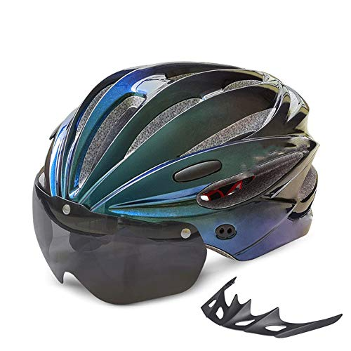Fahrradhelm herren fahrradhelm fahrradhelm damen Straßen-Fahrrad-Helme Elektrofahrradhelme Männer Und Frauen Schutzhelme Reithelme Mit Sonnenbrillen Integrierte Fahrradhelme Sieben Farben Erhältlich W
