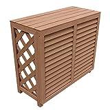 アイガーデン 室外機カバー 880サイズ i10171 人工木製 ナチュラル 組み立て式 1台
