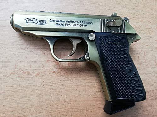 PPK Walter Deko Metall Replica 1:1 Pistole Gold NEU