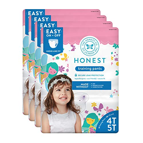 The Honest Company Toddler Training Pants, Fairies, 4T/5T, 76 Count