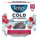 Tetley Cold Infusions Frambuesa y Arándano 12 Bolsas