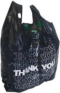 3158422e6 Schnäppchenladen24 500 X Bolsa de Transporte de Negro kibel entragetasche Bolsa  Bolsa de plástico Thank You