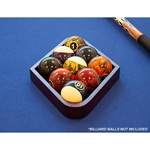 GSE Games & Sports Expert Mahogany Billiard 8-Ball Triangle & 9-Ball Diamond Pool Ball Racks (8-Ball Triangle & 9-Ball Diamond Racks)