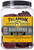 Tillamook Country Smoker Black Peppered Silver Dollar Beef Jerky,  Jar, 13 Ounce