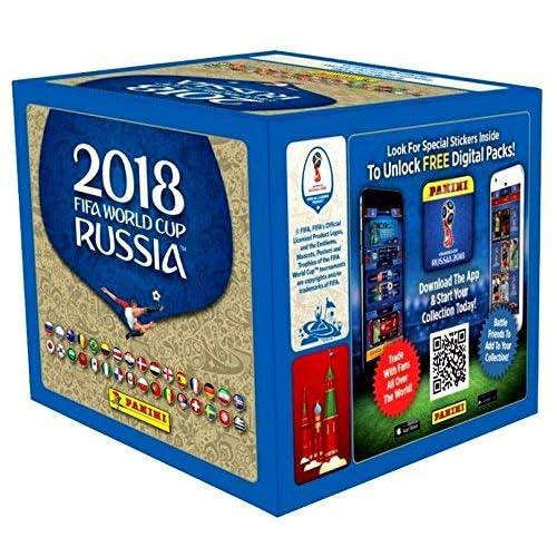 9f6add116 Amazon.com: Panini 2018 FIFA World Cup Stickers Retail Box: Sports &  Outdoors