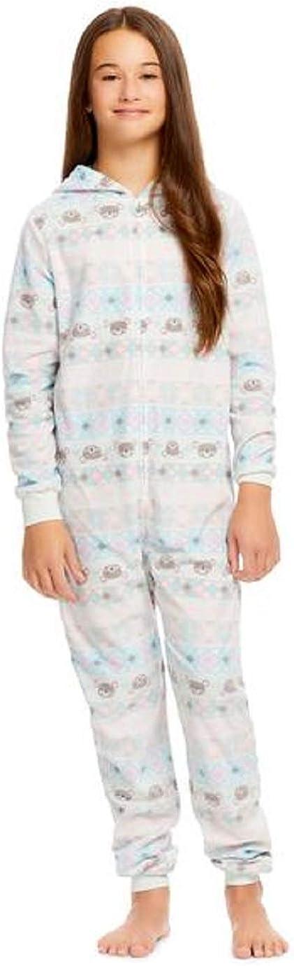 Jelli Fish Kids Girls 4-16 Fleece Unicorn Coverall X-Small 4/5