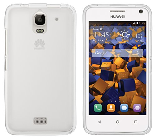 mumbi Hülle kompatibel mit Huawei Y3 Handy Hülle Handyhülle, transparent weiss