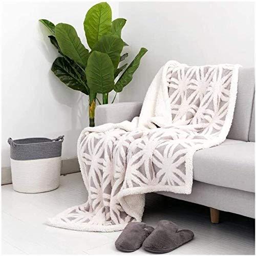 BBGSFDC Manta Grande de Doble Cara Extra Suave, Ligero Suave Tiro Fuzzy for la Cama del sofá, 63' x 83', Grey