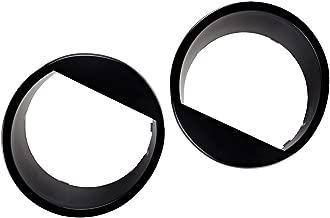 Angry Eyes Matte Black Headlight Cover Bezel Eyelids For 07-18 JEEP WRANGLER JK 2 & 4 Door