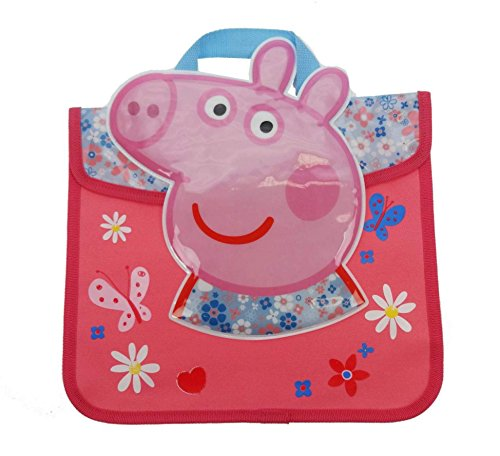 Peppa Pig Libro-School - Bolsa de 38 cm, color rosa