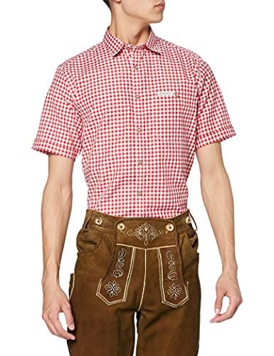 Stockerpoint Herren Hemd Renko3 Trachtenhemd, Rot (Rot Rot), Large