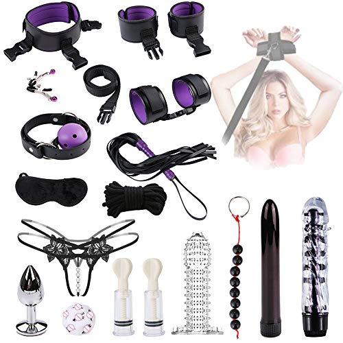 Bondage de yoga, accesorios de entrenamiento para el dormitorio, juego de 17 piezas, el mejor regalo para el día de San Valentín