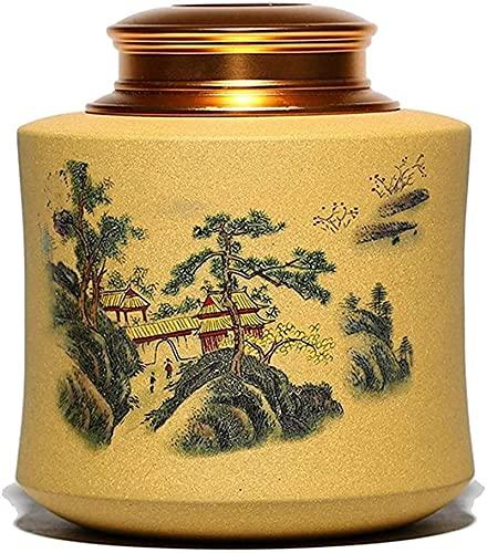 WHXL Tea Pot con Coperchio sigillante Creativo Creativo Purple Clay Pottery tè Decorazione Decorazione Ornamenti