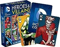 DCコミック HEROES & VILLAINS トランプ カードゲーム 輸入品 9×6cm