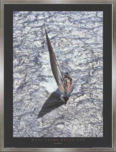 1art1 Carlo Borlenghi Stampa d'Arte e Cornice (MDF) Grigio Peltro - Maxi Yacht - Rolex Cup (80 x 60cm)