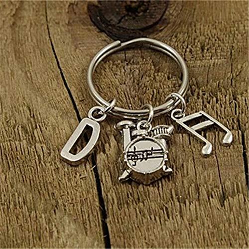 SUNSK Schlagzeuger Schlüsselring, Schlagzeuger Schlüsselanhänger, Schlagzeuger Geschenk