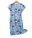 Nachthemd Damen Kurzarm Baumwolle große größen elegant Sleepwear Kleid Damen Nachthemd Kurzarm Pyjama