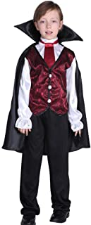 Halloween Kids Dressing Up Costumes, Male Horror Vampire Costumes,Suitable for Under 17 Years Old (Color : Black, Size : XL)