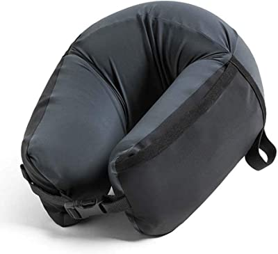 BEIXI Car Travel Pillow Compact and Light Pillow, in Memory Foam, Removable and Washable (Black)