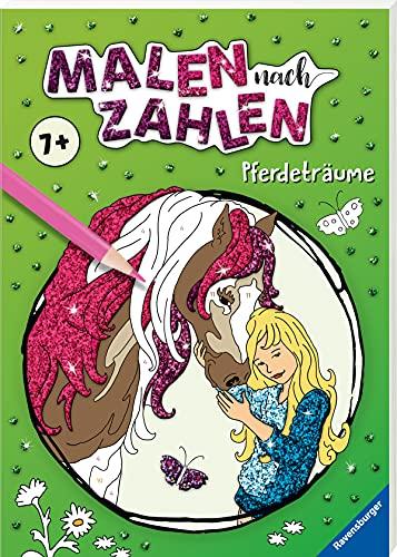 Ravensburger Malen nach Zahlen ab 7 Jahren Pferdeträume - 48 Motive - Malheft für Kinder - Nummerierte Ausmalfelder