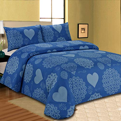 Sonia Moer Premium Duvet Cover Set Californian Blues (Double)