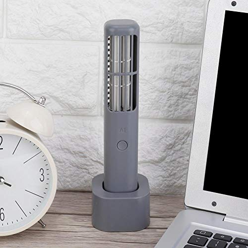 USB-ventilator, draagbare mini-handheld USB-oplader Elektrische bladloze ventilator voor buiten Office School Kleine persoonlijke miniventilator(zwart)
