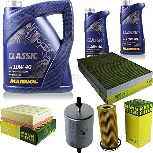 QR-Parts Set 85500186 HU 7029 z FP 3037 WK 720/4 C 27 192/1 MN7501-1 MN7501-5 7 L Classic 10W-40 + paquete de filtros MANN 10934622