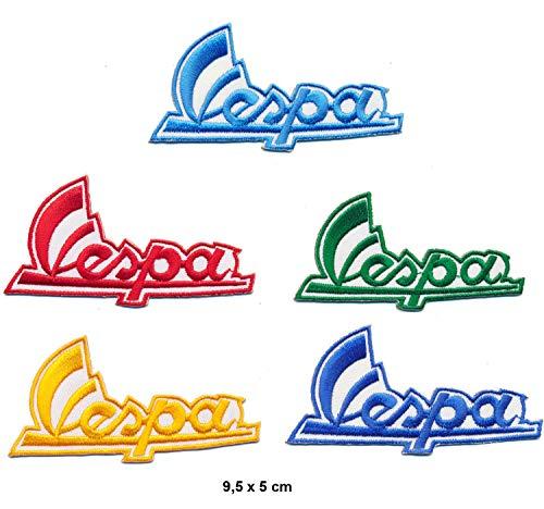 Racing Classics Vespa – Parche termoadhesivo, 5 unidades
