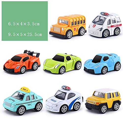 Lihgfw Children's speelgoed auto Set baby Bus Ambulance Taxi Small Car Various Car Model Alloy Pull Back Auto Boy 3 jaar oud